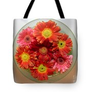 Gerbera Daisies - From Above Tote Bag