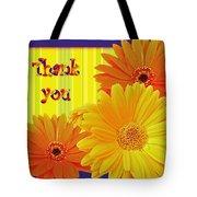 Gerbera Daisy Thank You Card Tote Bag