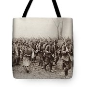 German And Austrian Soldiers Marching Tote Bag