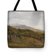 German Landscape With View Towards A Broad Valley , Fritz Petzholdt Tote Bag