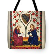 German Minnesinger 14th C - To License For Professional Use Visit Granger.com Tote Bag