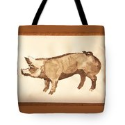 German Pietrain Boar 31 Tote Bag