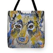 German Shepherd Painting Tote Bag