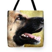 German Shepherd Portrait Tote Bag