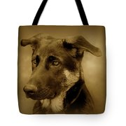 German Shepherd Pup Tote Bag