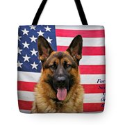 German Shepherd - U.s.a. - Text Tote Bag