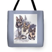 German Shepherd W/ghost Tote Bag