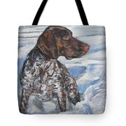 German Shorthaired Pointer In The Snowdrift Tote Bag