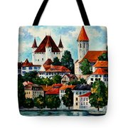 Germany - Clouds Above The Rhine Tote Bag