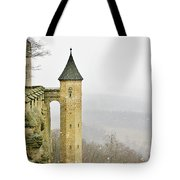Germany - Elbtal From Festung Koenigstein Tote Bag by Christine Till