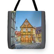 Germany - Half-timbered Houses And Alleys In Quedlinburg Tote Bag