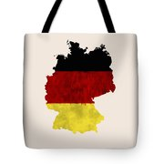 Germany Map Art With Flag Design Tote Bag
