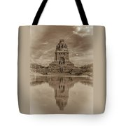 Germany - Monument To The Battle Of The Nations In Leipzig, Saxony, In Sepia Tote Bag