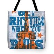 Get Rhythm - Johnny Cash Lyric Poster Tote Bag by Jim Zahniser
