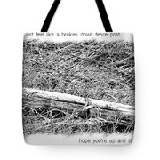 Get Well Post Tote Bag