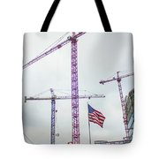 Getter Done Tower Crane Construction Art Tote Bag