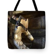 Getting A Hand Up Tote Bag
