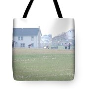 Getting Ready For A Volleyball Game  Tote Bag