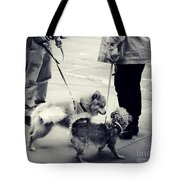 Getting To Know You - Puppies On Parade Tote Bag