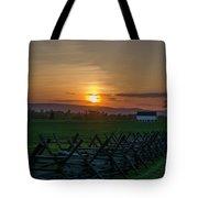 Gettysburg At Sunset Tote Bag