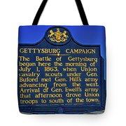 Gettysburg Campaign Tote Bag