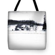 Gettysburg Farm In Winter Tote Bag