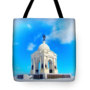 Gettysburg Memorial In Winter Tote Bag