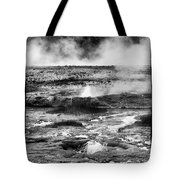Geysers Of Yellowstone Tote Bag