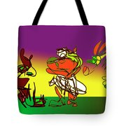Ghana Drum  Purple Tote Bag