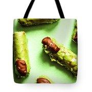 Ghastly Green Halloween Finger Food Tote Bag