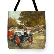 Ghost And Spitfire  Tote Bag