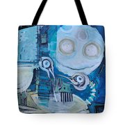 Ghost Birds At Play Tote Bag