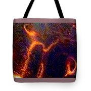 Ghost Figures 3 Abstract Tote Bag