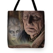 Ghost In The Book Tote Bag