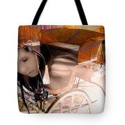 Ghost In The Carriage House Tote Bag