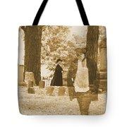 Ghost In The Graveyard Tote Bag