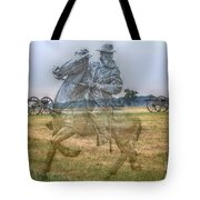 Ghost Of Gettysburg Tote Bag by Randy Steele