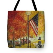 Ghost Of Lincoln Highway Tote Bag