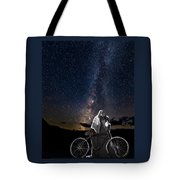Ghost Rider Under The Milky Way. Tote Bag by James Sage