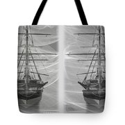 Ghost Ship - Gently Cross Your Eyes And Focus On The Middle Image Tote Bag