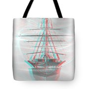 Ghost Ship - Use Red-cyan 3d Glasses Tote Bag