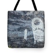 Ghost Town Boot Hill Tote Bag