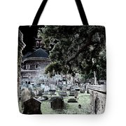 Ghostly Cemetary Tote Bag