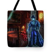 Ghostly Gentleman Visits A Friend Tote Bag