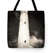 Ghostly Lighthouse Tote Bag