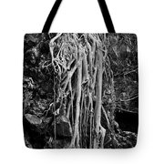 Ghostly Roots - Bw Tote Bag