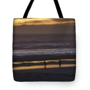Ghostly Sunset Walk Tote Bag