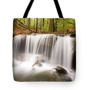 Ghostly Waterfall Tote Bag