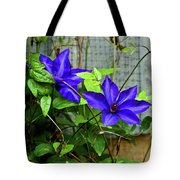 Giant Blue Clematis Tote Bag