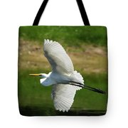 Giant Egret Grace Tote Bag